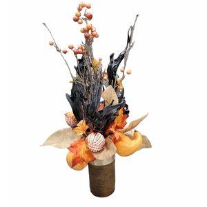 Fall Harvest Themed Faux Flower Decorative Centerpiece